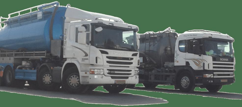 משאיות ביובית המרכז לשירותי ביובית