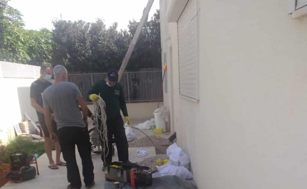 עבודות ביוב בקיסריה
